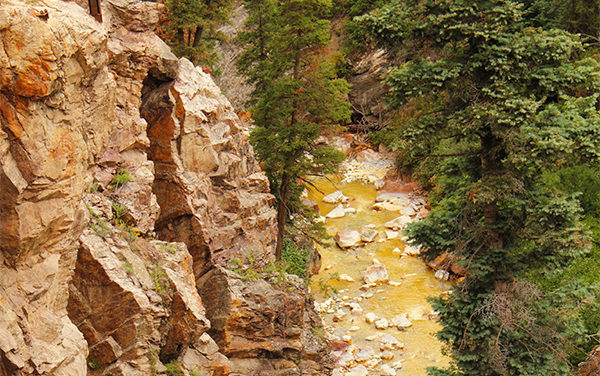 Mining Sludge Contaminates River