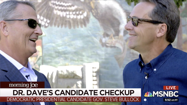 Dr Dave's Candidate Checkup: Steve Bullock