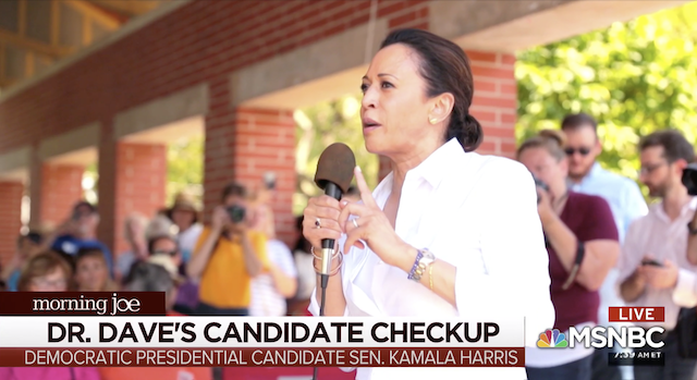 Candidate checkup with Sen. Kamala Harris